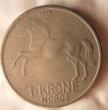 1959 NORWAY KRONE - Excellent Vintage Coin - FREE SHIPPING - Norway Bin #4