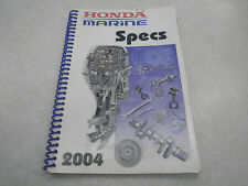 Honda Marine Specs Manual - 2004