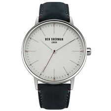 Ben Sherman WB009US Mens Portobello Touch Blue Leather Strap Watch RRP £50