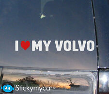 I love My Volvo sticker funny fast decal turbo I Heart Volvos decal cool awesome