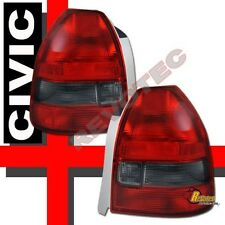 96 97 98 99 00 Honda Civic DX CX 3Dr Hatchback Red Smoke Tail Lights 1 Pair