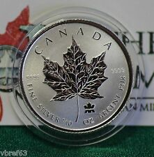 2004 CANADA $2 Privy Mark Silver Maple Leaf 1/10 oz Reverse proof 99.99% silver