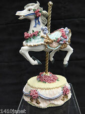 Heritage House Carousel Horse Music Box Figurine Plays Yesterday Country Fair