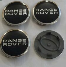 RANGE ROVER ALLOY WHEEL CENTRE CAPS 63MM BLACK/SLIVER