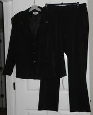 Danillo Woman Black Pant Suit w/gold accents Size 20W NWT Lined Jacket