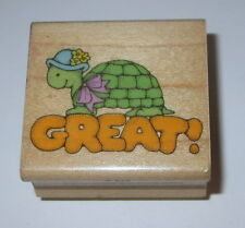 Great! Turtle Rubber Stamp Teacher's Aid Grading Papers School Homework Retired