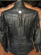 Harley Davidson Fringed Leather jacket MIRAGE 98117-96VW Women's Sz S Small RARE