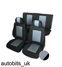 GREY & BLACK PREMIUM FULL CAR SEAT COVERS SET FOR FIAT PUNTO BRAVA STILO 500