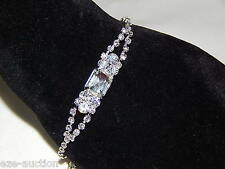 SPARKLING BRIDAL PARTY SILVER CLEAR RHINESTONE CRYSTAL BRACELET
