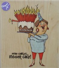 BIGGER CAKE! Rubber Stamp PS0920 Hampton Art Brand NEW! Art Impressions party