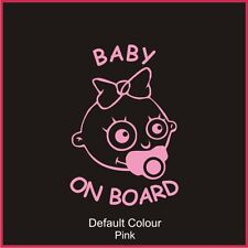 Baby Girl on Board Decal, Cute, Funny, Sticker, Graphics, Car, N2097