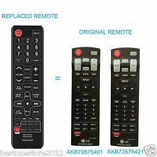 SOUND BAR Replace Remote AKB73575421 AKB73575401 for LG NB3520A NB2420A NB4530B