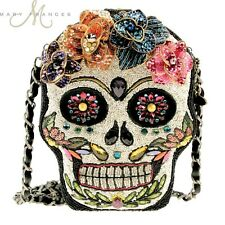 Mary Frances Handag Sugar Rush Day of the Dead Skeleton Flower Beaded Shoulder