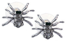 Clear Crystal Spider Post Stud Earrings Halloween Girl Fashion Jewelry e101c