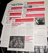 RARE LOT OF 7 MARS UNDERGROUND NEWSLETTERS 96-99