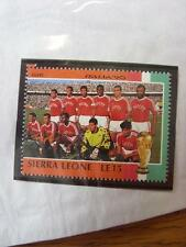 1990 World Cup Stamp: Sierra Leone - Egypt Team