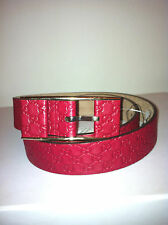 GUCCI WOMEN'S RED SIGNATURE GG EMBOSSED LEATHER BELT!!! SIZE 75 (30 WAIST)