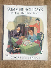 1953 Cooks World Travel Service: Summer Holidays in the British Isles.