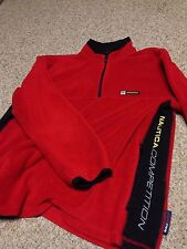 Vintage Nautica Competition Spell Out Nautech Quarter Zip Fleece size Small