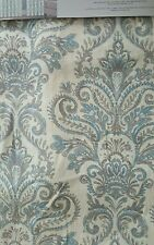 New 2 ENVOGUE Damask Paisley Medallions Window Curtain Panels 96 Blue Gray Ivory