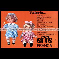 VALERIE Effe Franca Poupée Doll Bambola 1977 Pub Publicité Advert Ad #B662