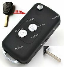 Flip Folding Remote Key Case Upgrade Shell Fob For Peugeot 107 207 307 407 607