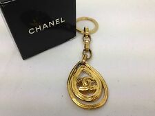 "Chanel Keychain Brushed Gold With Large ""CC""  6C220590p"