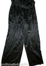 New NWT $448 Designer Elie Tahari Toni Pant 8 Silk Wide Leg 27 X 34 Tall Black