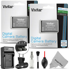 2x Vivitar EN-EL23 Battery + Charger for Nikon Coolpix B700 P900 S810c P610 P600