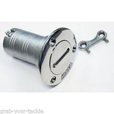Deck Filler & Key Boat 38mm 316 Marine Grade Stainless Steel Petrol Flush Mount