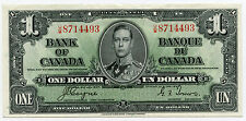 Bank of Canada 1937 Currency $1 Dollar - Banque Du Canada - Gem Note - AB308