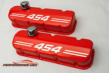 Big Block Chevy 454 Die Cast Aluminum Orange Valve Covers