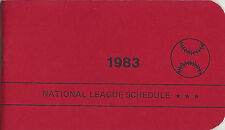 1983 National League Schedule Booklet East & West Teams