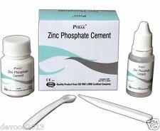 Dental Zinc Phosphate Cement Permanent Tooth Filling Fixation Powder Liquid Kit