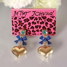 NEW Fashion Betsey Johnson Beautiful Crystal Cartoon Love Alloy Earring BJEA009