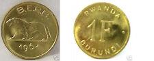 1961 Rwanda Burundi 1 franc Lion