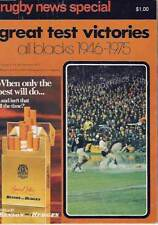 NZ GREAT TEST VICTORIES RUGBY BOOK 1946 - 1975 HOWITT
