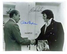 ELVIS PRESLEY RICHARD NIXON REPRINT AUTOGRAPHED SIGNED PICTURE PHOTO AUTO RP