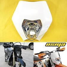 KTM EXC XC MXC 250 450 525 530 SuperMoto White Dirt Bike Headlight Lamp Fairing