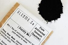 Activated Charcoal Powder 100% Organic Whitening Coconut grade A 10g detox