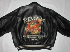 *REDSKINS LEDERJACKE*DRAGON TEDDY DA HANG HUE*DRACHEN*BLACK*VINTAGE*GR L*TIP TOP