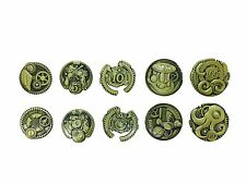 Norse Foundry RPG D20 Adventure Coins Variety Gold Piece Set of 10 - Steampunk
