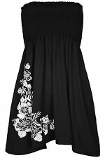 Ladies Sheering Boob Tube Gather Bandeau Ruched Top Midi Mini Dress Plus Size 22