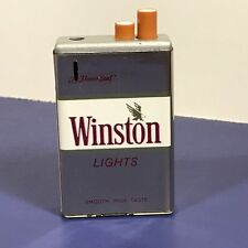 VINTAGE COLLECTIBLE LIGHTER ADVERTISING PAOK LITE KOREA WINSTON LIGHTS SILVER
