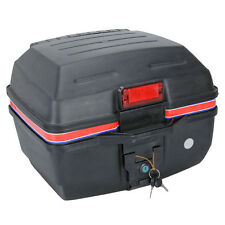 New A06 Matte Scooter Motorcycle Luggage Trunk Top Case Storage Box Black