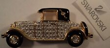 Signed Swan Swarovski Antique Car Pave' Brooch Pin