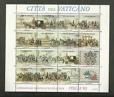 VATICANO 1985 FOGLIETTO IPZS VATICANO ESPOSIZIONE MONDIALE FILATELIA ITALIA '85