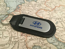 GENUINE ORIGINAL HYUNDAI LEATHER KEYRING KEYFOB