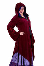 Velvet Faery Goddess Jacket, Boho Goa Psy Trance Coat Plus Size Pagan Clothing