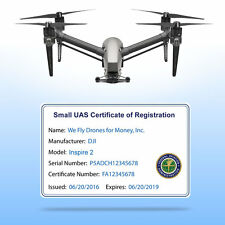 Drone FAA UAS Certificate of Registration - Commercial Pilot ID Card for wallet